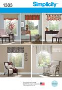 "1383 Simplicity Pattern: Valances for 90cm-100cm (36"" - 40"") Wide Windows"